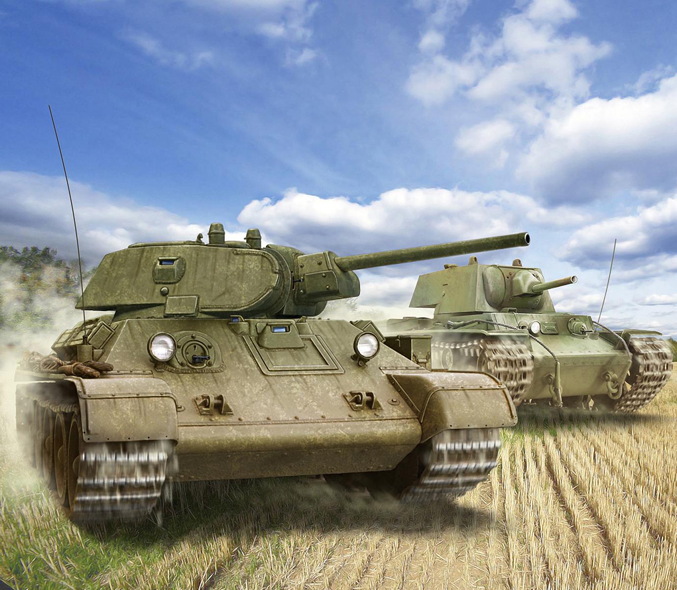 Петелин Валерий. Танки Т-34/85 и КВ-1.
