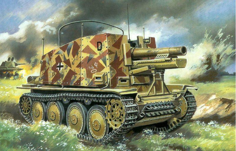 Руденко Валерий. САУ Sd.Kfz. 138 Bison 15cm s.IG.