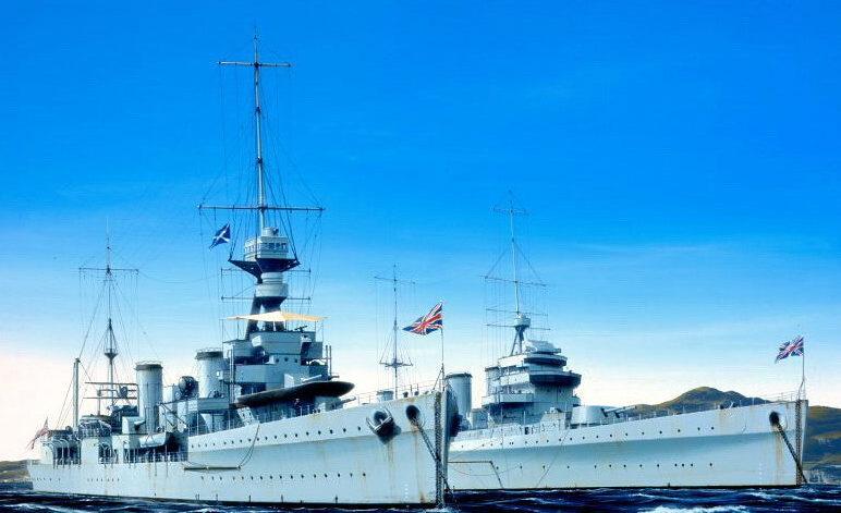 Berryman Ivan. Легкие крейсера «Emerald» и «Enterprise».