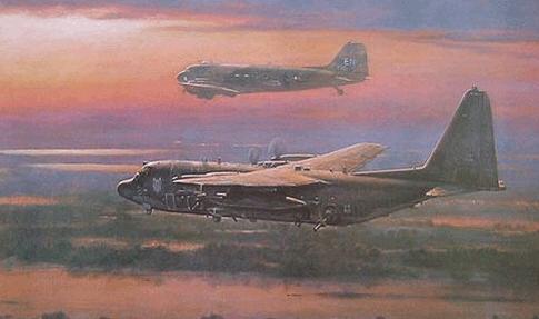 Wong Ronald. Транспортные самолеты C-130 и DC-3.