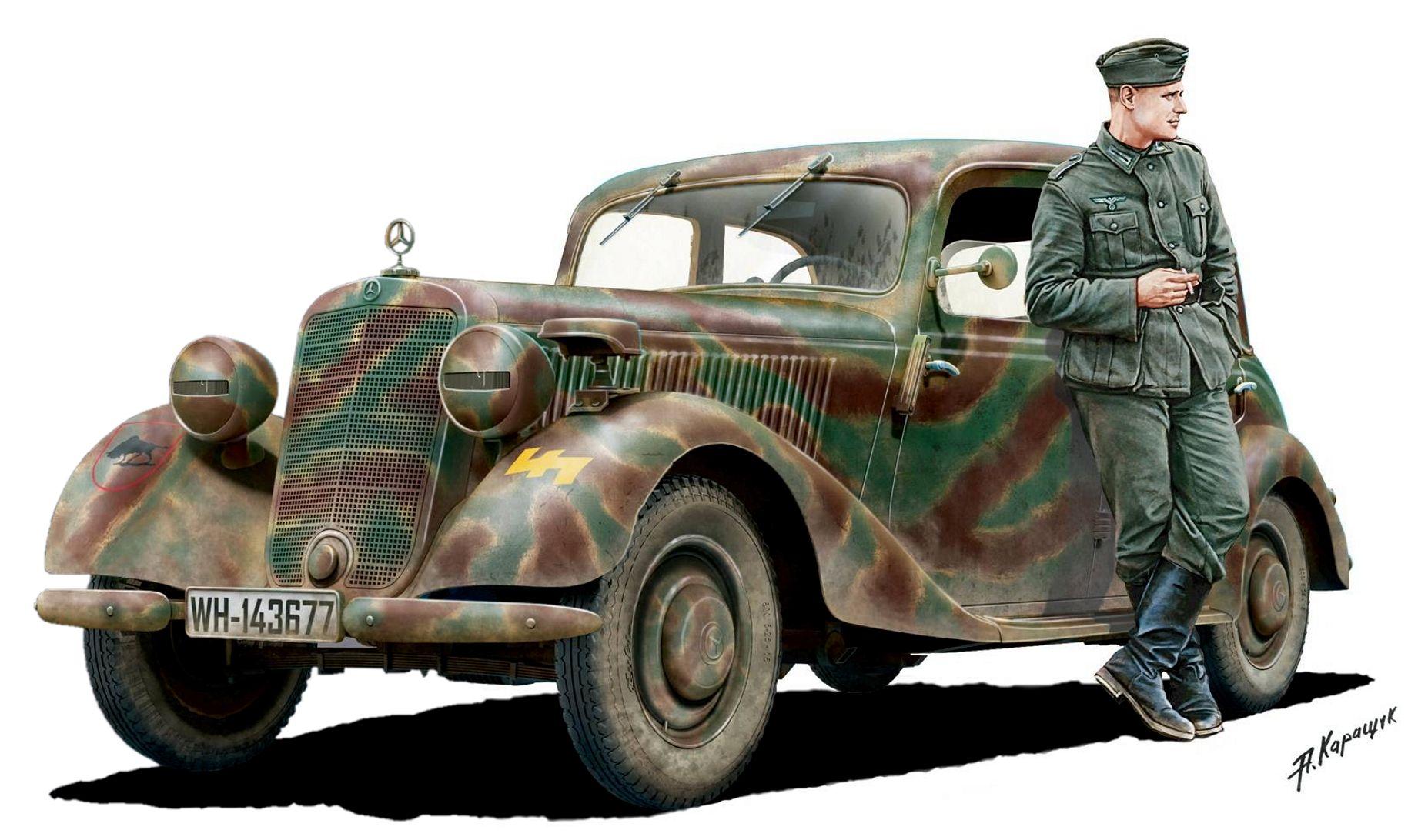 Каращук Андрей. Штабной автомобиль Mercedes-Benz 170V.