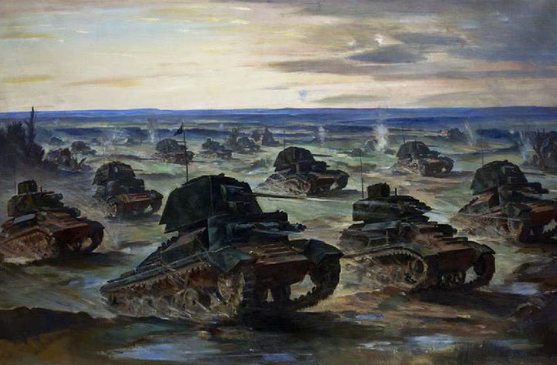 Cundall Charles. Танковая атака.