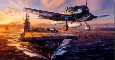 Trudgian Nicolas. Взлет F-6F Hellcat.