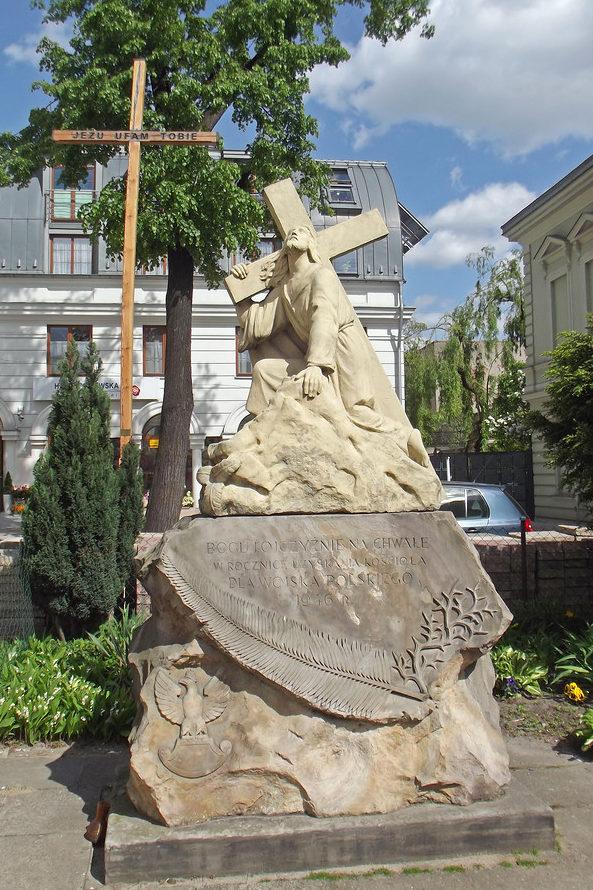 г. Лодзь. Статуя Христа была установлена в 1946 году, в честь Войска Польского.