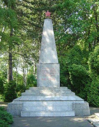 г. Рыбник. Памятник по улице Рудзка, установленный на воинском кладбище, где захоронено 1 833 советских воинов, в т.ч. 1 667 неизвестных, погибших в годы войны.
