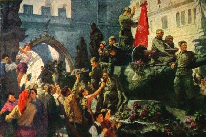 Козанов Е., Орловский А. В освобожденной Праге.