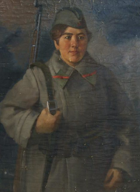 Зайцев Юрий. Портрет женщины-бойца.