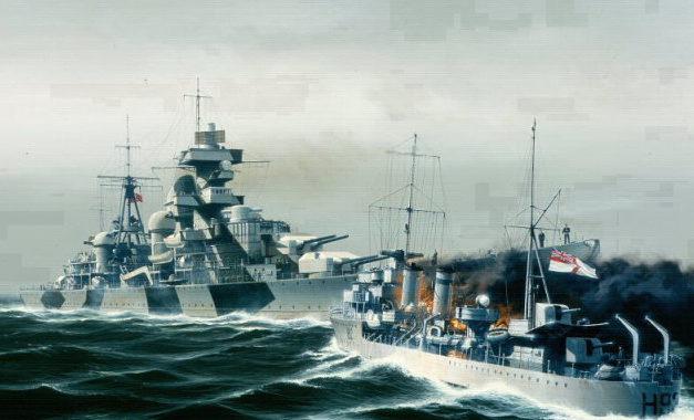Berryman Ivan. Атака на тяжелый крейсер «Admiral Hipper».