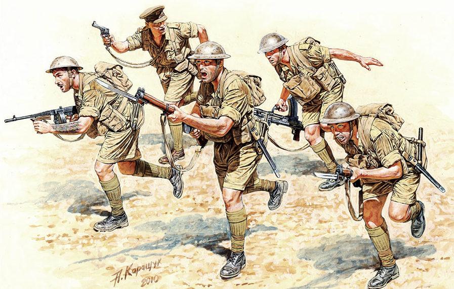 Каращук Андрей. Британская пехота в Северной Африке.