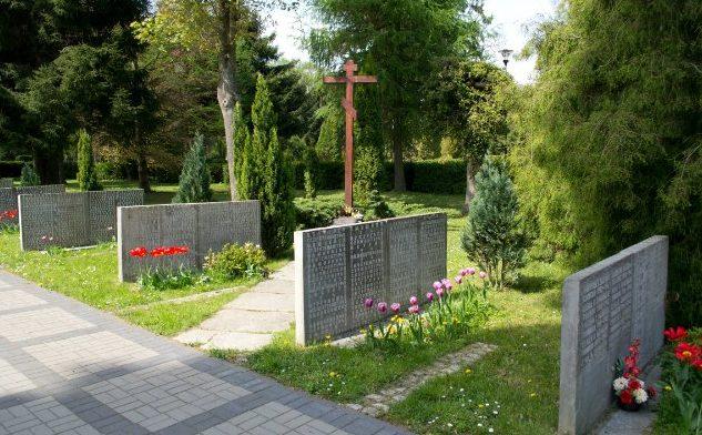 г. Кошалин. Воинское кладбище по улице Гнезненьска, где похоронено 294 советских воинов, в т.ч. 79 неизвестных.