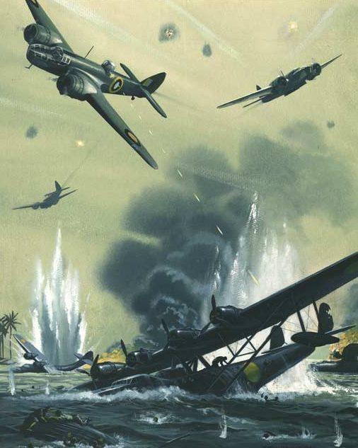 Nockolds Roy. Уничтожение японских летающих лодок.