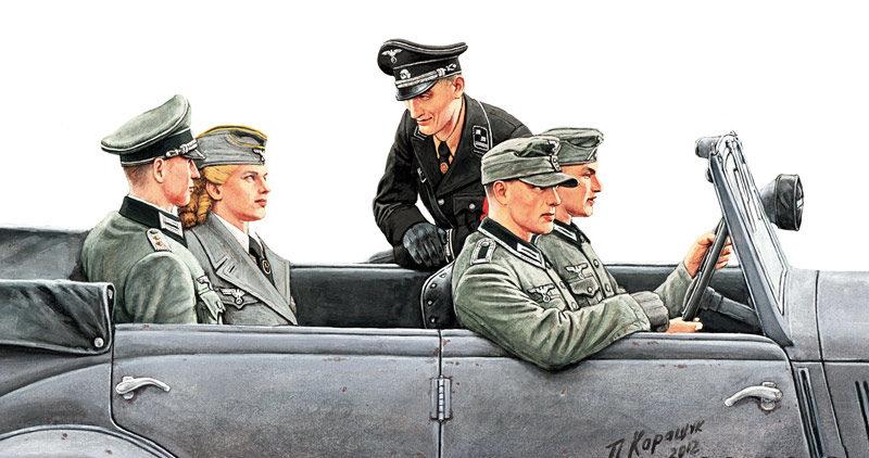 Каращук Андрей. Немецкие офицеры.