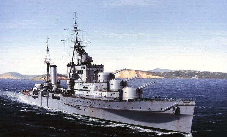 Berryman Ivan. Крейсер «Euryalus».
