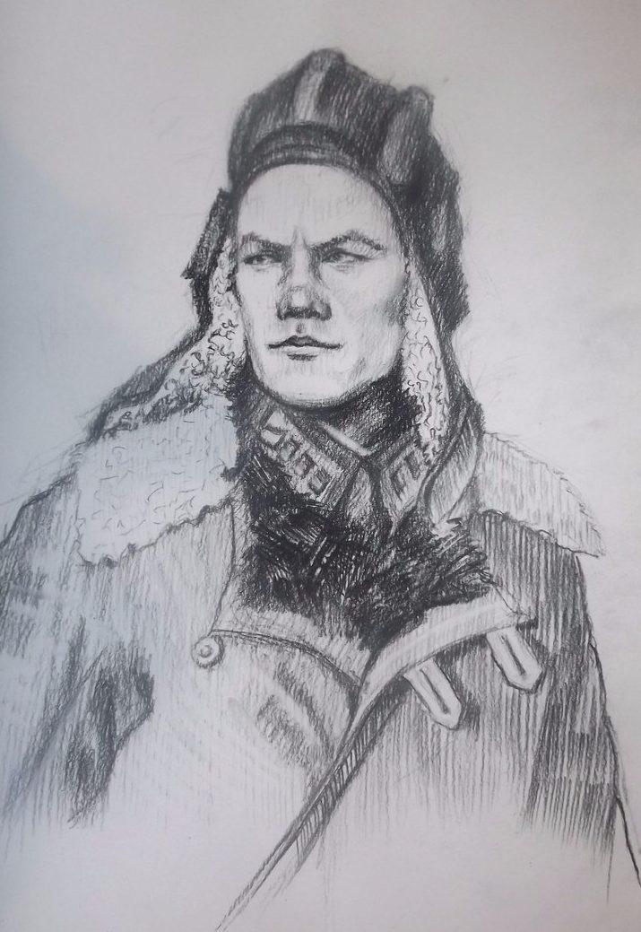 Пахомов Никита. Портрет советского танкиста.