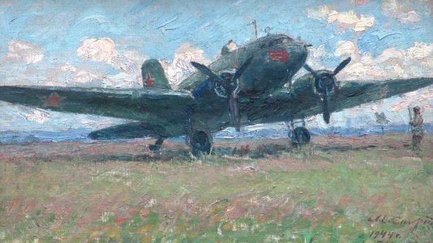 Спиридонов Моисей. Самолет, построенный на средства А.М. Сарскова.