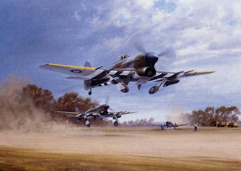 Coulson Gerald. Истребители «Typhoon» на взлете.