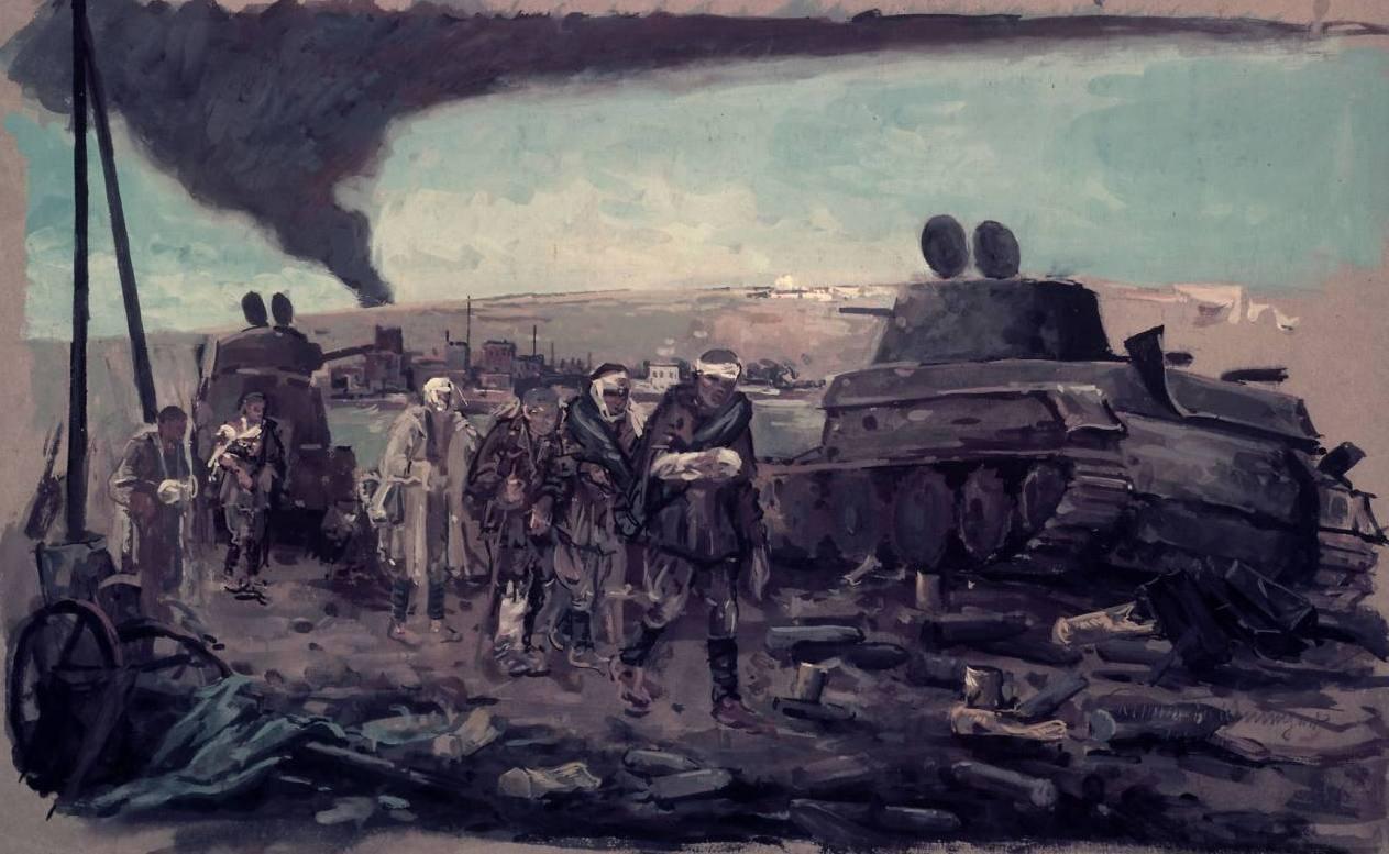 Фельдмейер Роман. Раненые под Смоленском. 1941 год.