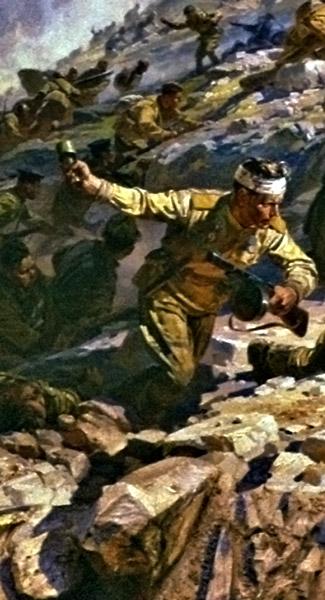 Мальцев П., Марченко Г., Присекин Н. Фрагменты диорамы «Штурм Сапун-горы».