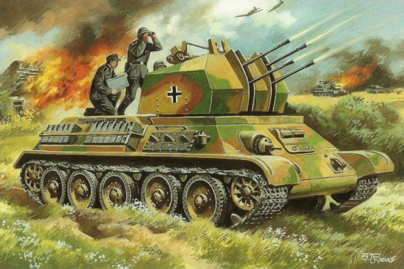 Руденко Валерий. ЗСУ Flakpanzer T-34(r).