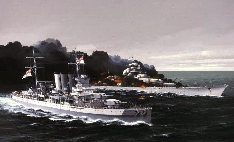 Berryman Ivan. Тяжелый крейсер «Dorsetshire».