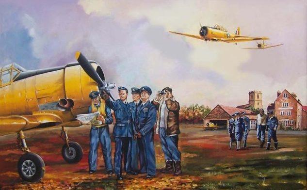 Каушанский Леонид. На аэродроме.
