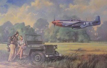 Rayson John. Истребитель Р-51 и внедорожник Willys.