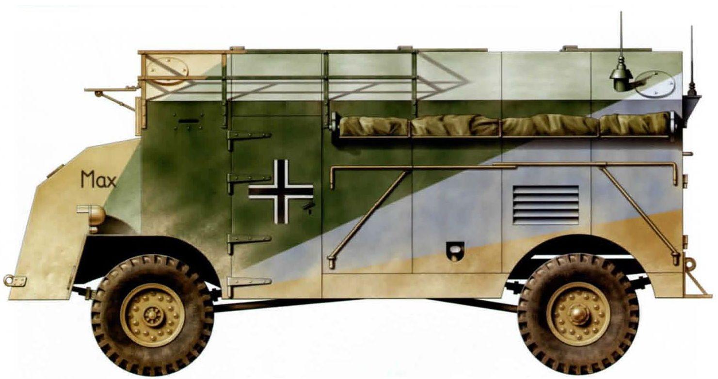 White John. Бронированный штабной автомобиль AEC 4x4 Dorchester «Max».