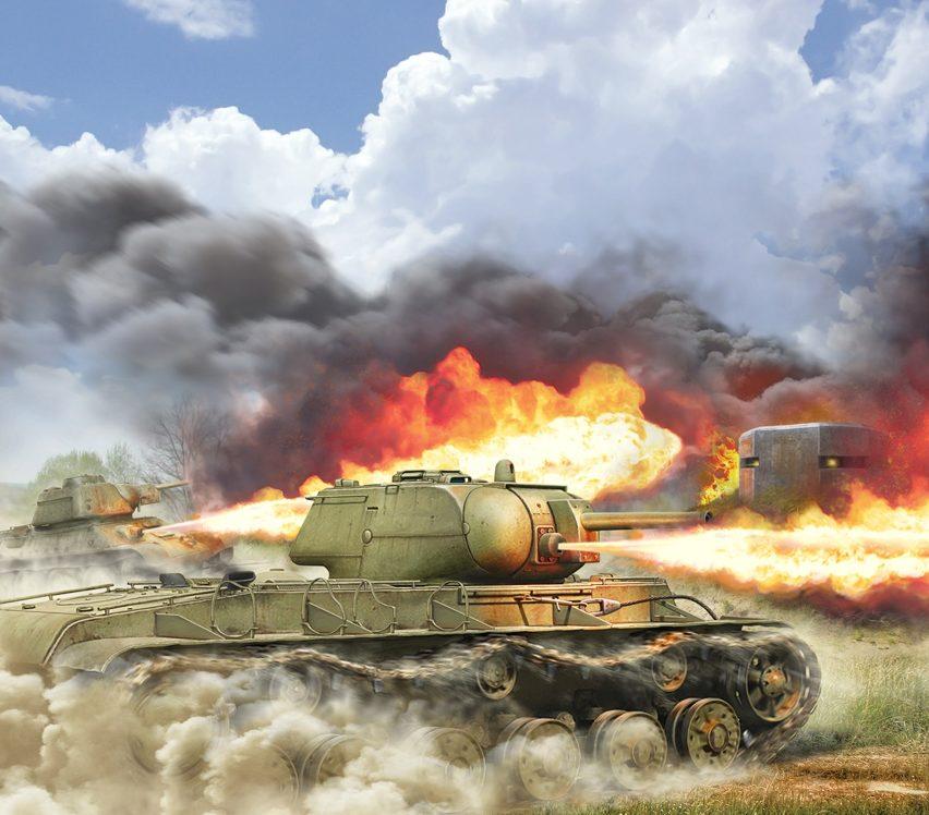 Петелин Валерий. Огнеметный танк – КВ-8С.