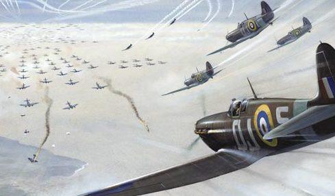 Nockolds Roy. Эскадрилья Spitfires атакует бомбардировщиков.