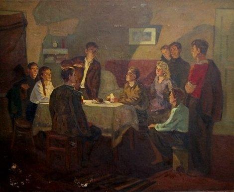Лившиц Семен. Молодогвардейцы слушают Москву.