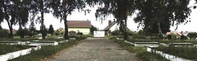 г. Новогродзец, Болеславецкий повят. Воинское кладбище по улице Сенкевича, где захоронено 222 советских воина, в т.ч. 141 неизвестный.