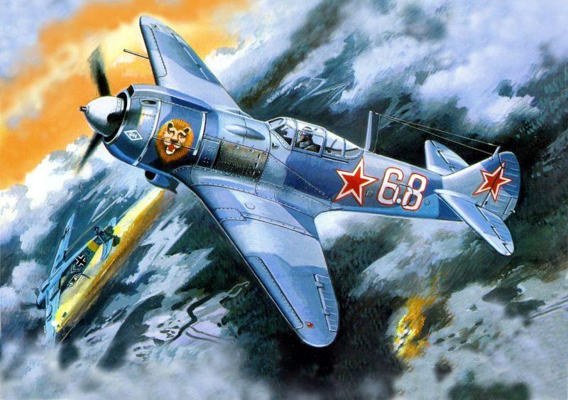 Руденко Валерий. Истребитель Ла-5 ФН.