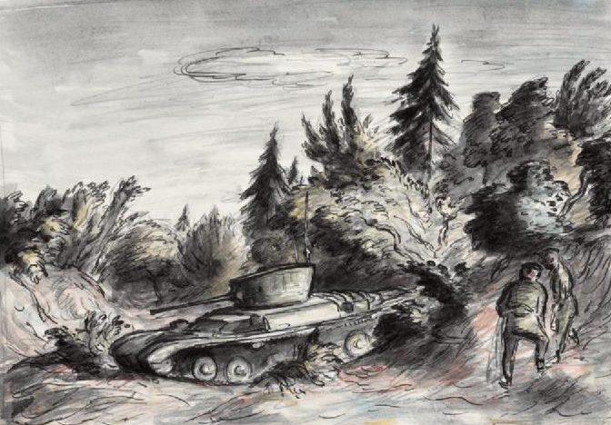 Ardizzone Edward. Танк в лесу.