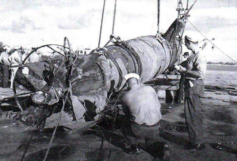 Захваченная человеко-торпеда «Кейтэн». 1945 г.