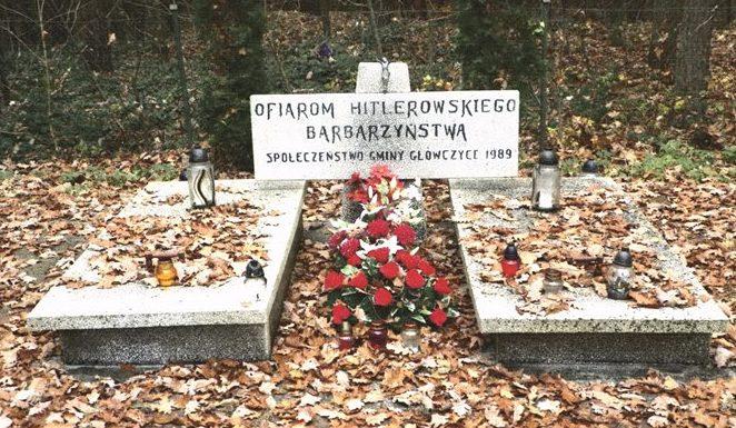 д. Избица, Слупского повята. Братская могила советских военнопленных.