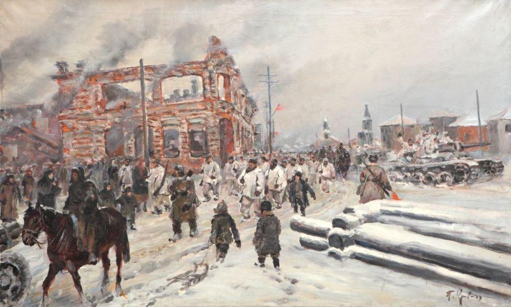 Кривоногов Петр. Вступление в Волоколамск. 1942 год.