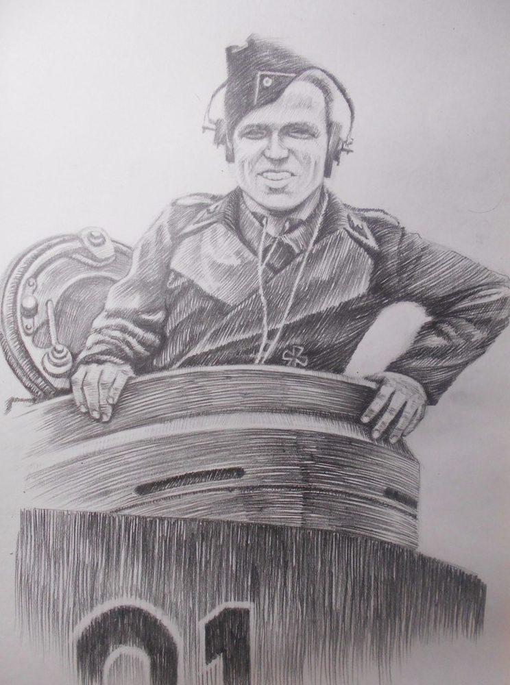 Пахомов Никита. Портрет немецкого танкиста.