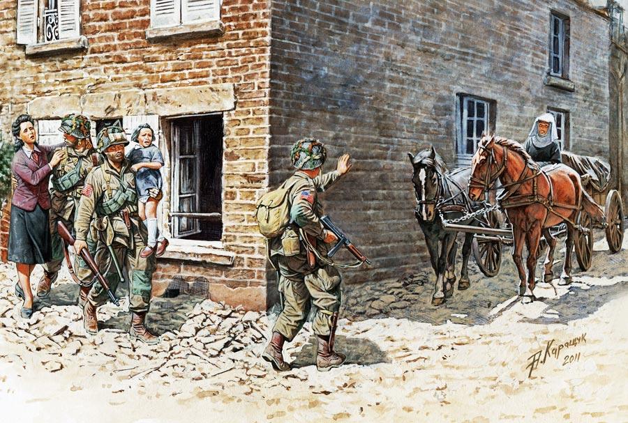 Каращук Андрей. Франция, 1944 год.