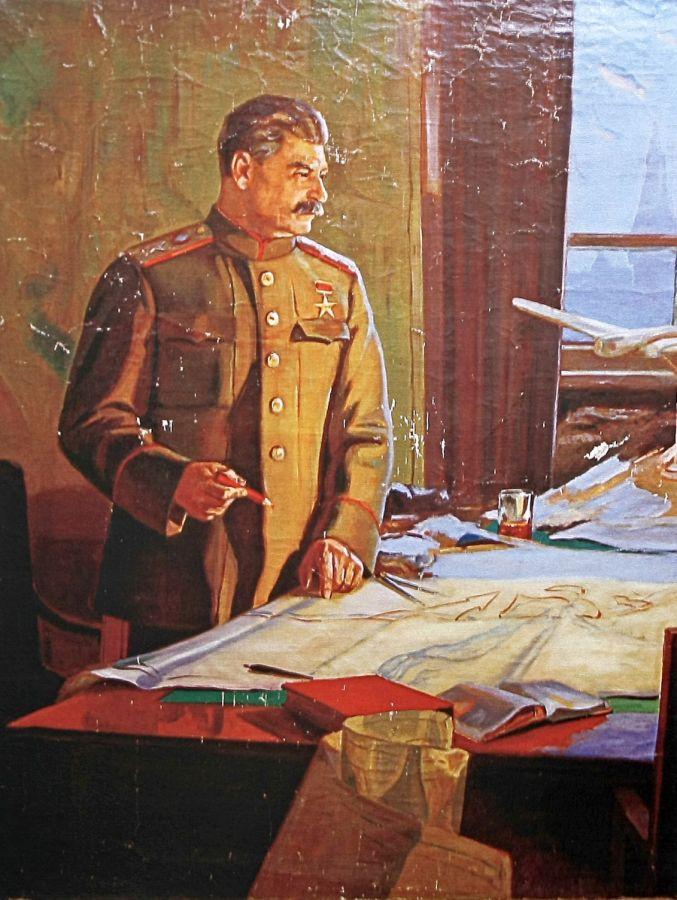 Звиедрис Александр. Сталин у военной карты.