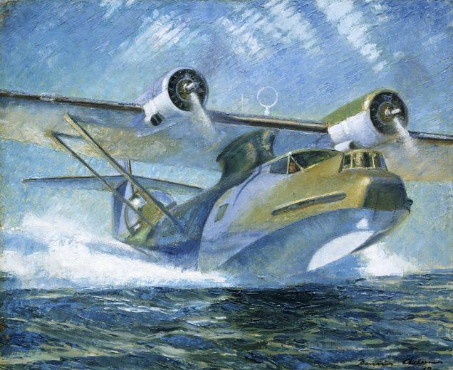 Adams Dennis. Взлет летающей лодки «Catalina».