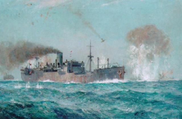 Burgess Arthur. Атака конвоя на Мальту.