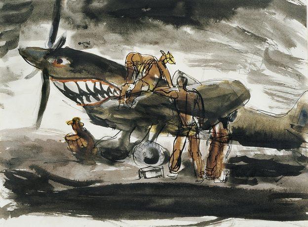 Friend Donald. Обслуживание истребителя «Spitfire».