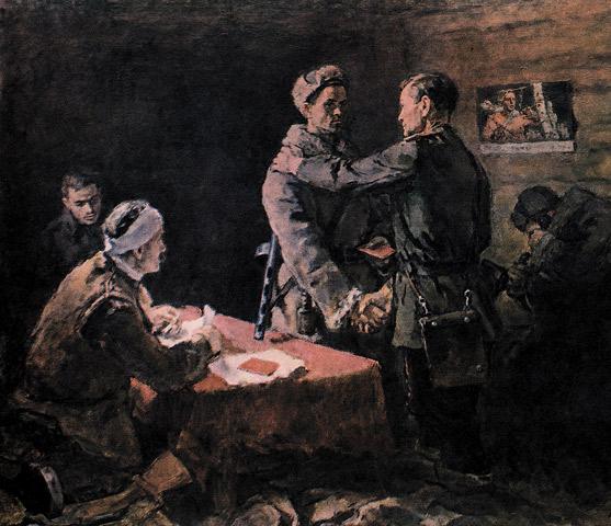 Костецкий Владимир. Вручение партбилета.