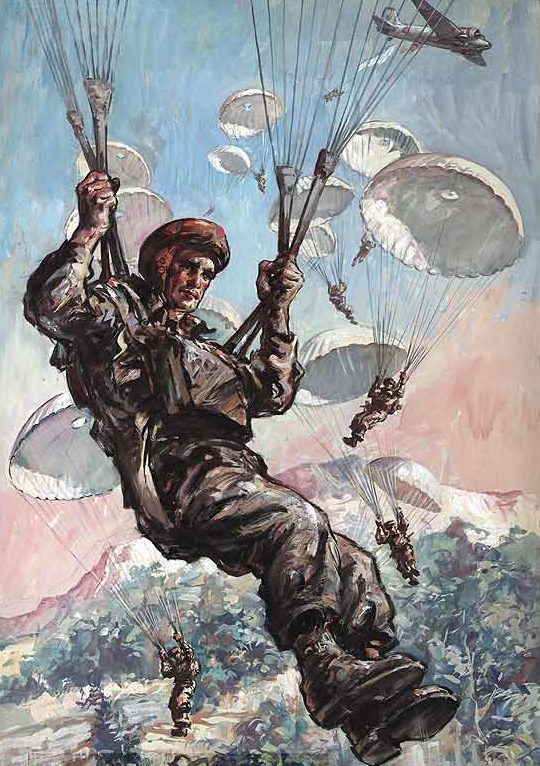 Oliphant Leslie. Британские парашютисты.