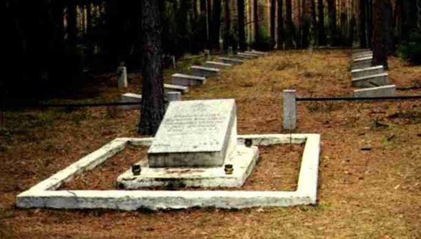 д. Рыголь, Аугустувского повята. Воинское кладбище, где похоронено 3 тысячи советских воинов.