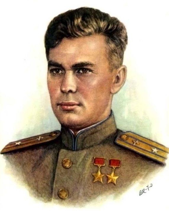 Кручина Александр. Дважды Герой Советского Союза В. Алексеенко.