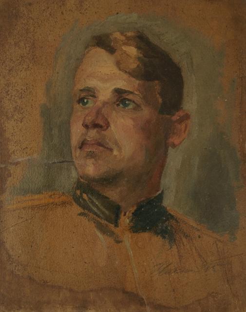 Ильин Иосиф. Портрет Героя Советского Союза Г.Ф. Пантелеева.