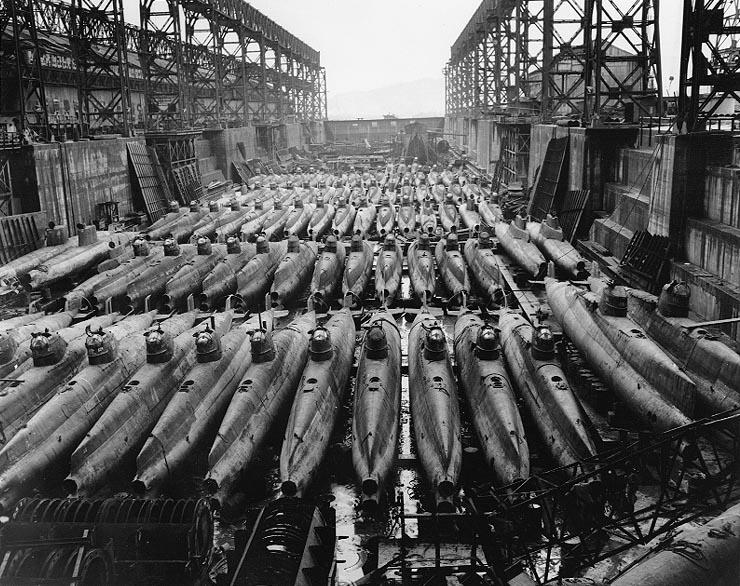 Подводные лодки типа «Корю». 1945 г.