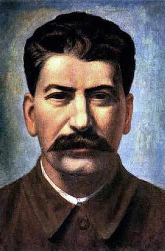 Филонов Павел. Портрет Сталина.