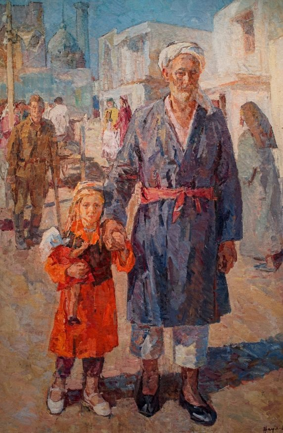 Наумова Тамара. Дети погибших в новых семьях в Самарканде в 1942 году.